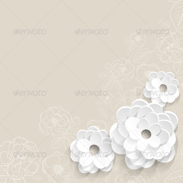 GraphicRiver Background with Paper Flowers 6828720