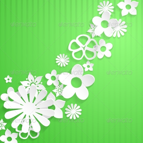 GraphicRiver Background with Paper Flowers 6828743