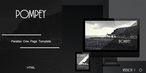 ThemeForest Pompey Parallax One Page HTML Template 6828815