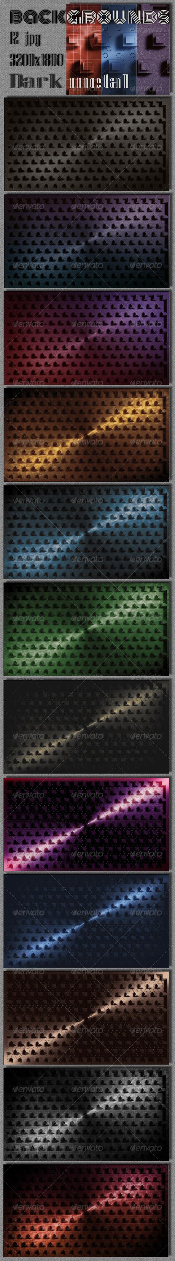 GraphicRiver Dark Metal Web Background 6828866