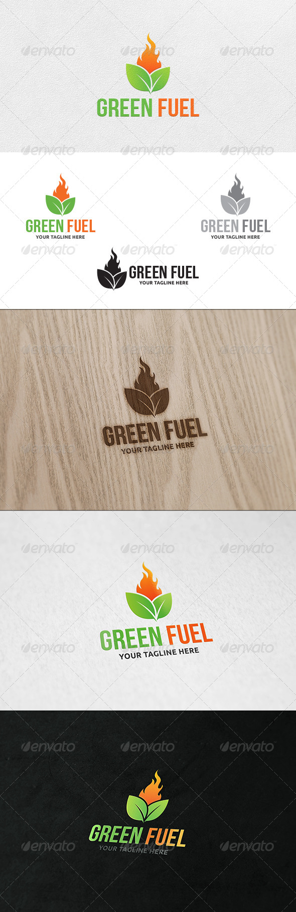GraphicRiver Green Fuel Logo Template 6828879