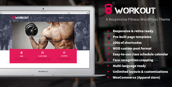 Workout - A Responsive WordPress Gym Theme
