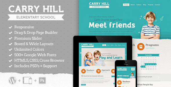 ThemeForest Carry Hill School Responsive Wordpress Theme 6760819