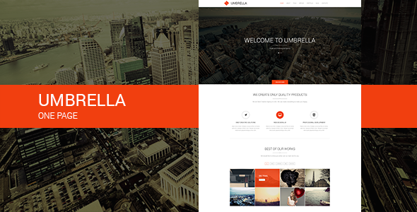 ThemeForest Umbrella One Page Template 6829510