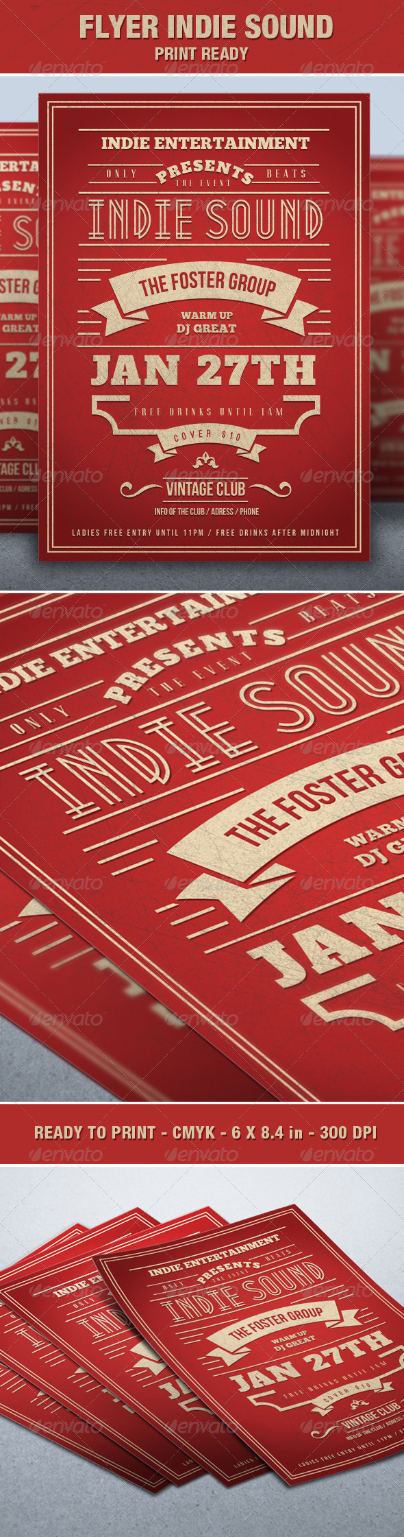 GraphicRiver Flyer Indie Sounds Event 6829599