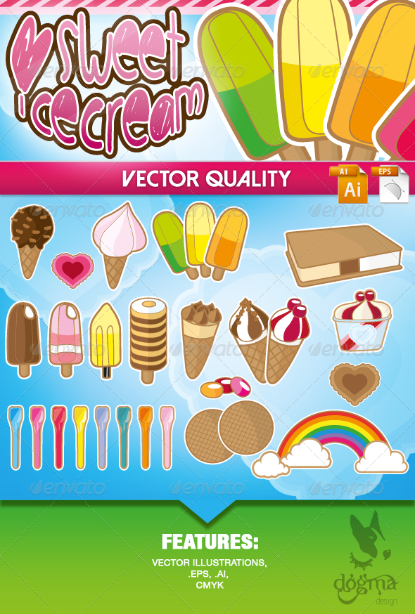 GraphicRiver Ice Cream Vector Collection 6829977