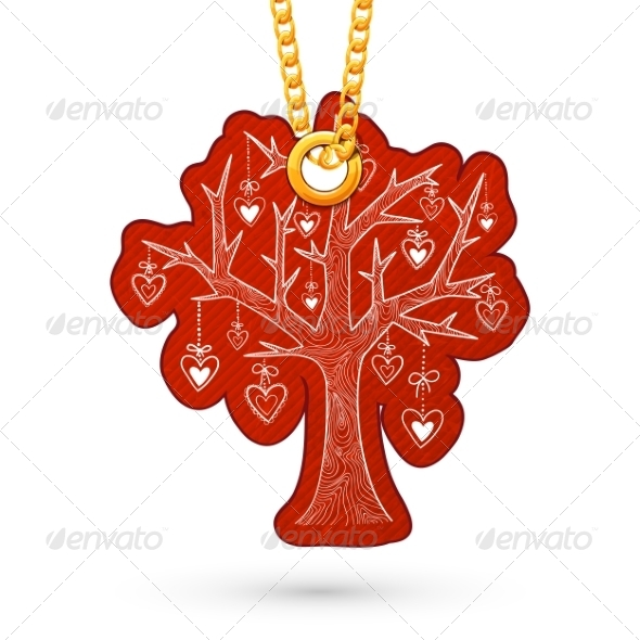 GraphicRiver Tree with Hearts Decoration 6830108