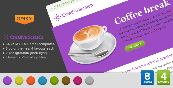 Download Creative Scratch Email Template nulled download
