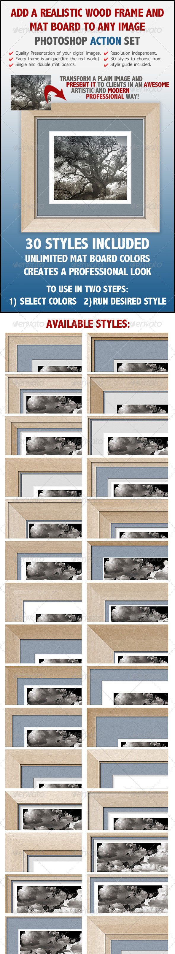 GraphicRiver Realistic Wood Frame Actions 6830185