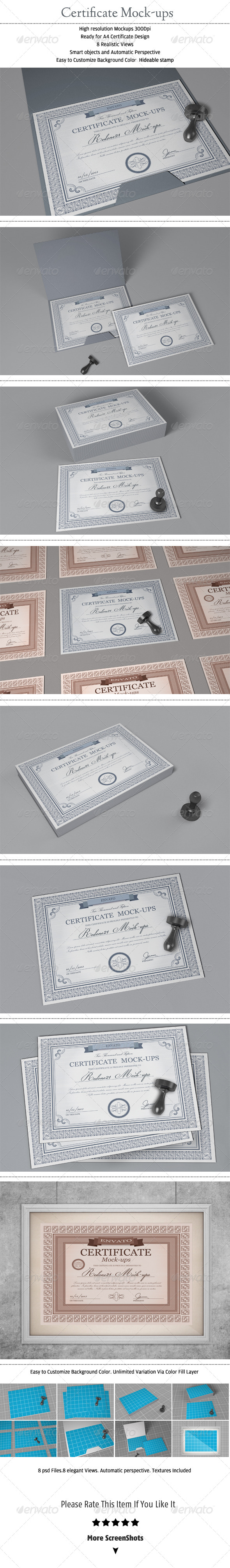 GraphicRiver Certificate mock-ups 6830187