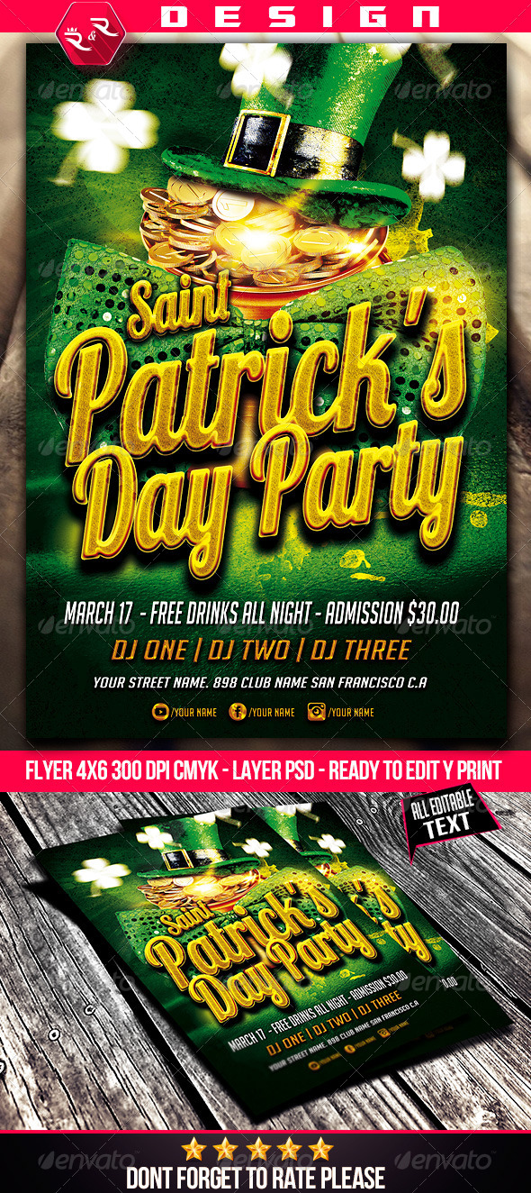 GraphicRiver St Patricks Flyer Template 6830412