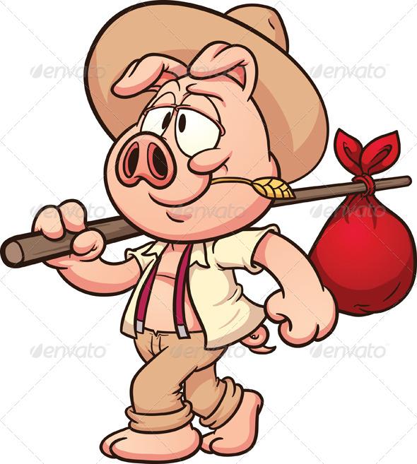 GraphicRiver Farmer Pig 6830528