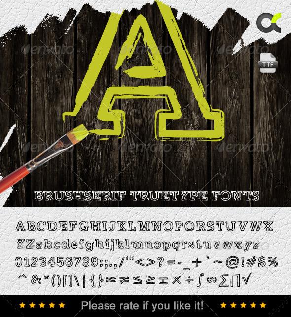 GraphicRiver BrushSerif TrueType Font 6830576