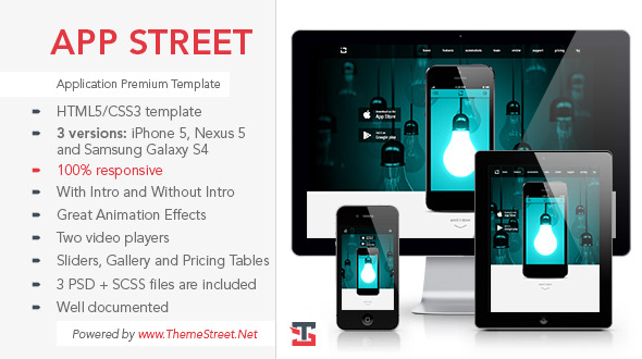 APP Street - Premium Application Template (3 in 1)