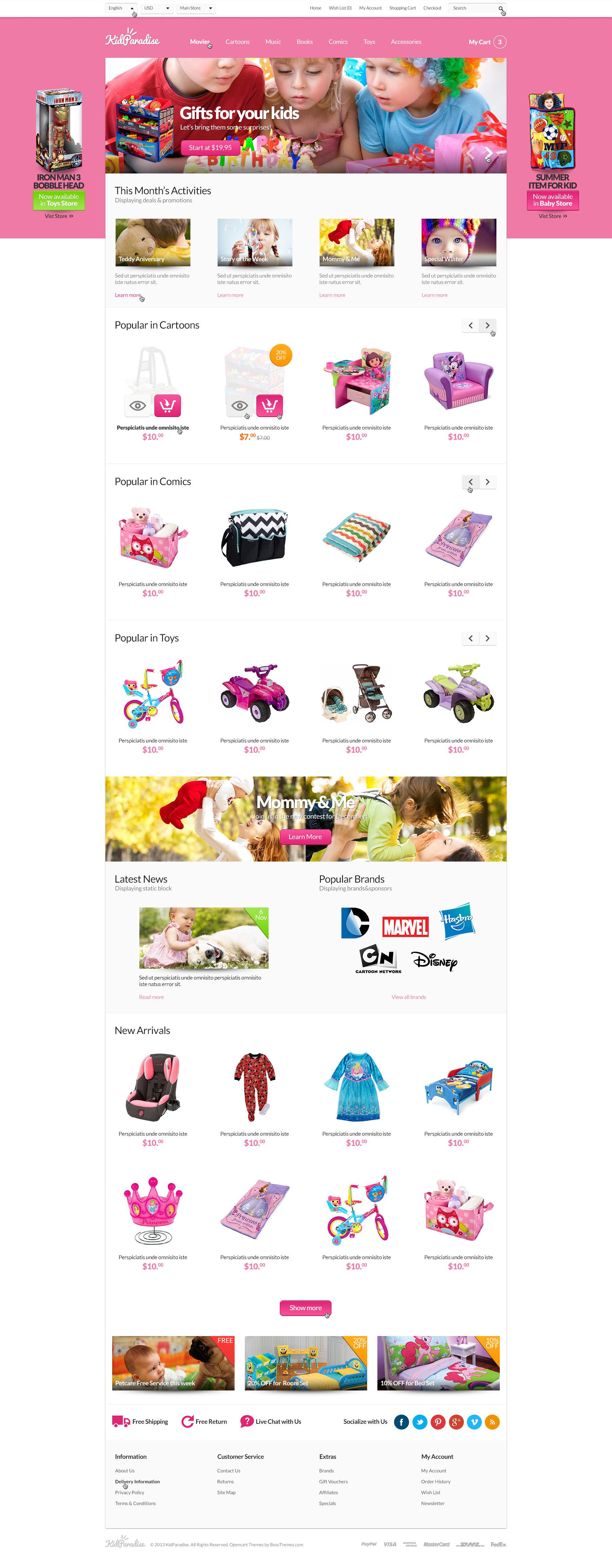 Opencart Kid Store Theme - KidParadise