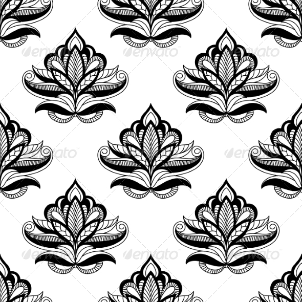 GraphicRiver Persian Style Seamless Floral Motifs 6832054