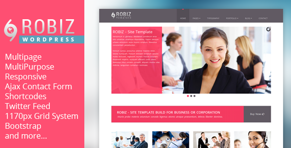 ROBIZ - Responsive Multi-Purpose Wordpress Theme