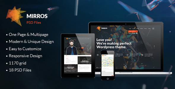 ThemeForest MIRROS PSD Template 5619647