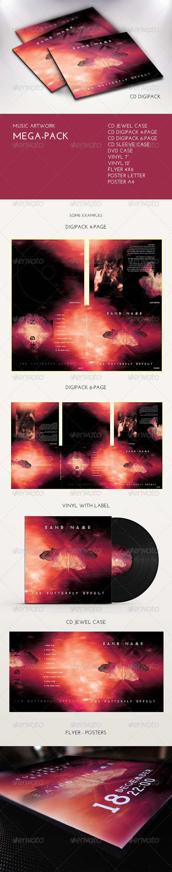 GraphicRiver Music Artwork Mega Pack 6832822