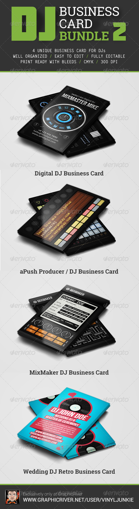 GraphicRiver DJ Business Card Bundle 2 6832896