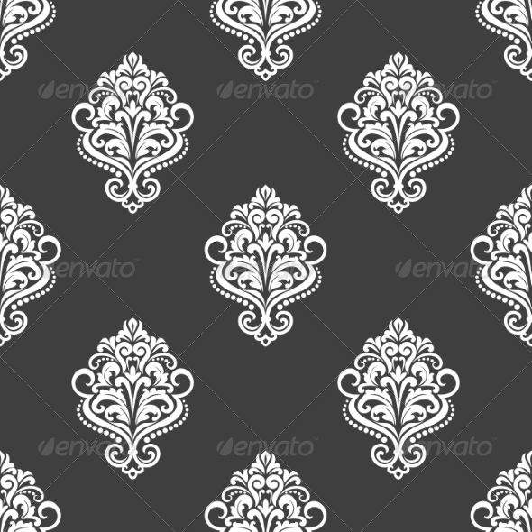GraphicRiver Geometric Seamless Pattern with Floral Motifs 6832927