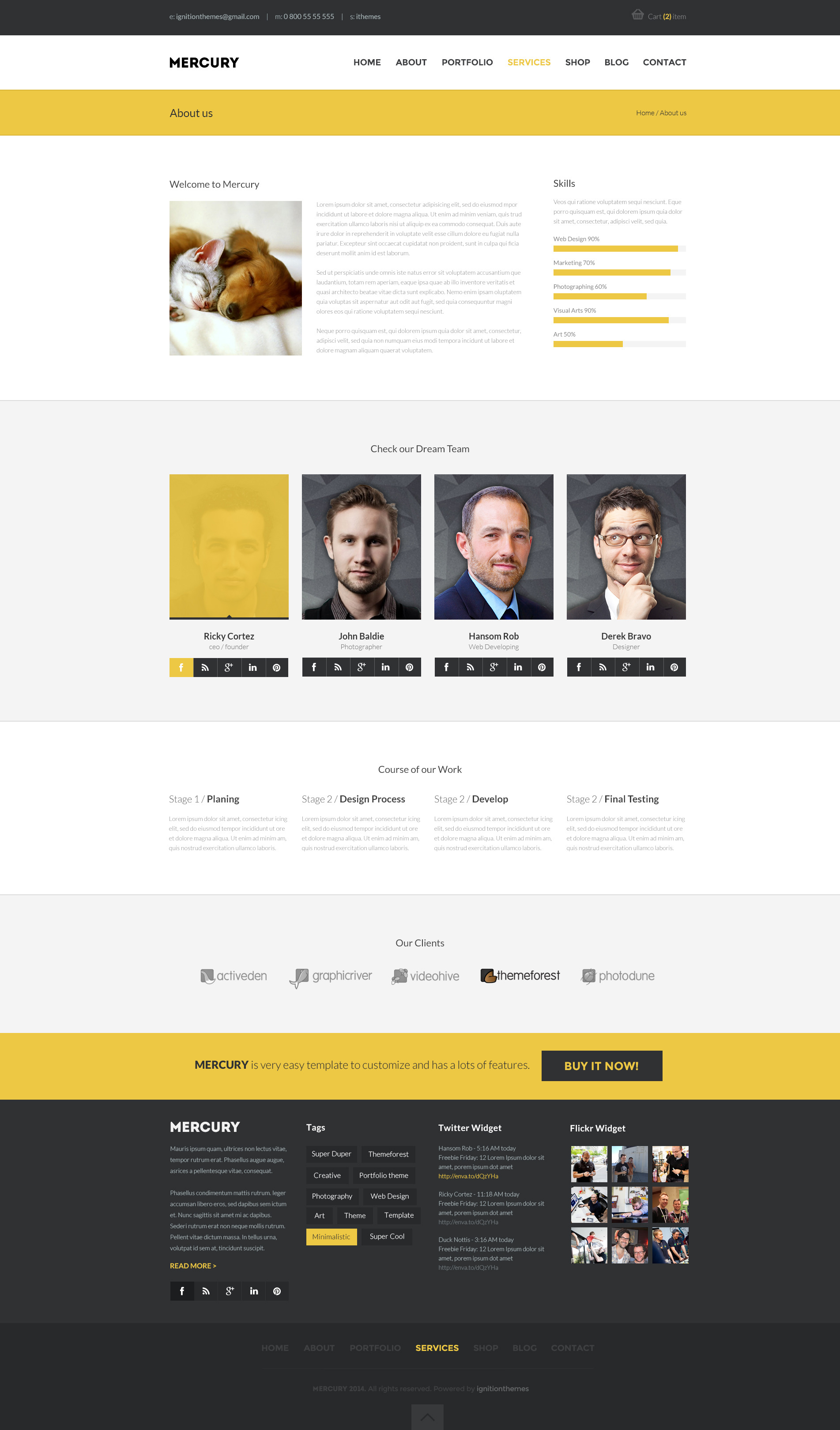 MERCURY - Multipurpose PSD Template
