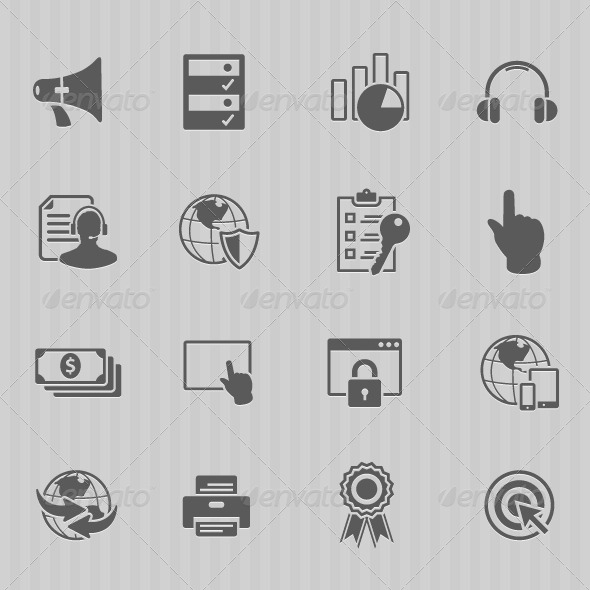GraphicRiver Web Technology Icon Set 6833870
