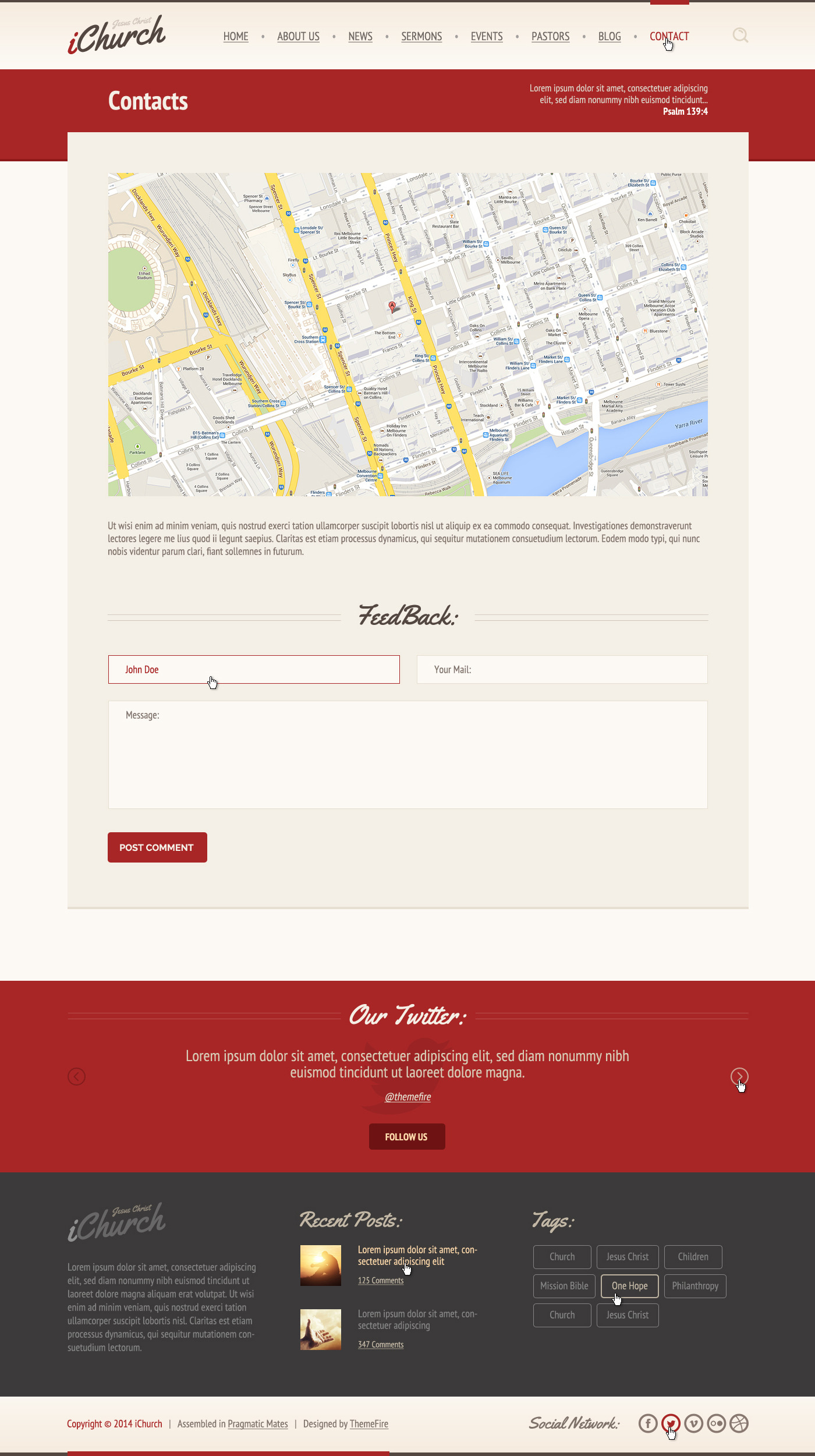 iChurch — PSD Template