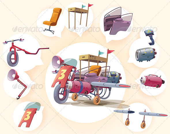 GraphicRiver Strange Vehicle 6833921