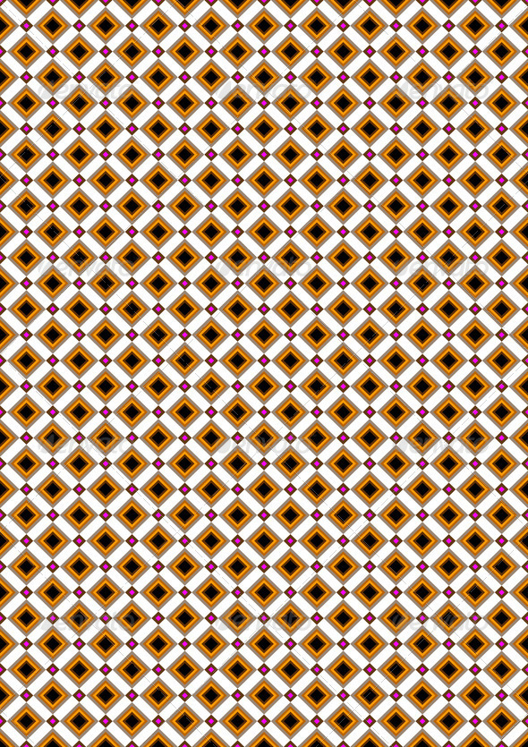 Orange and Beige Rhombuses on White Background - Stock Photo - Images