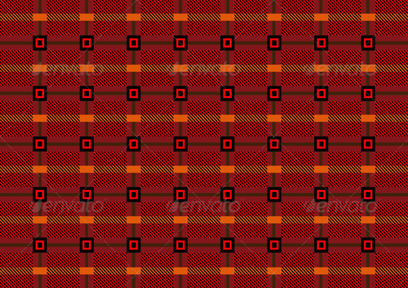 Black with Orange Squares on Burgundy Background - Stock Photo - Images