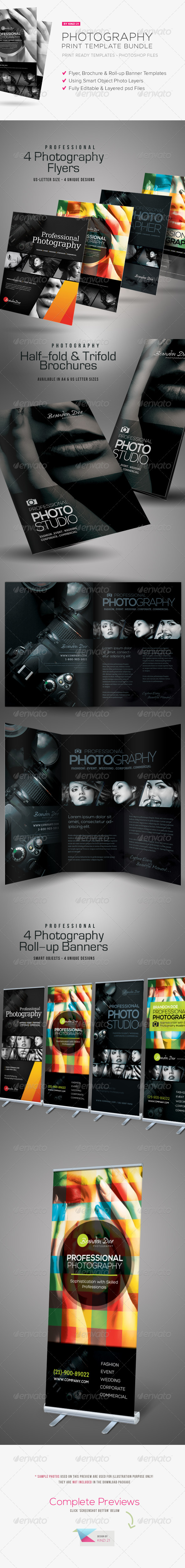 Photography Print Template Bundle - Corporate Flyers