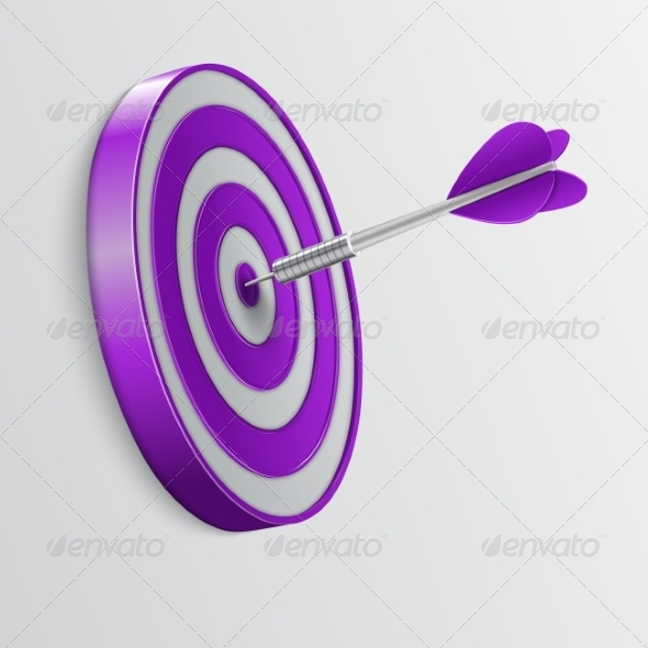 GraphicRiver Dart Hitting a Target Success Concept 6834547
