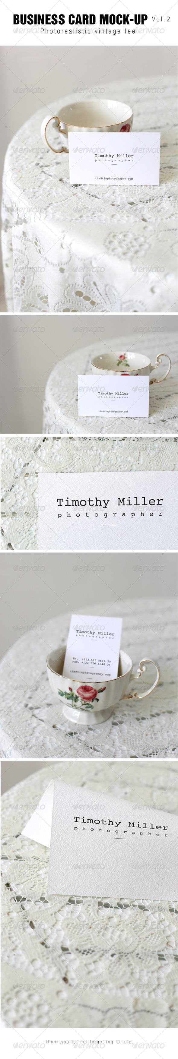 GraphicRiver Business Card Mock-up Vol.2 6809604