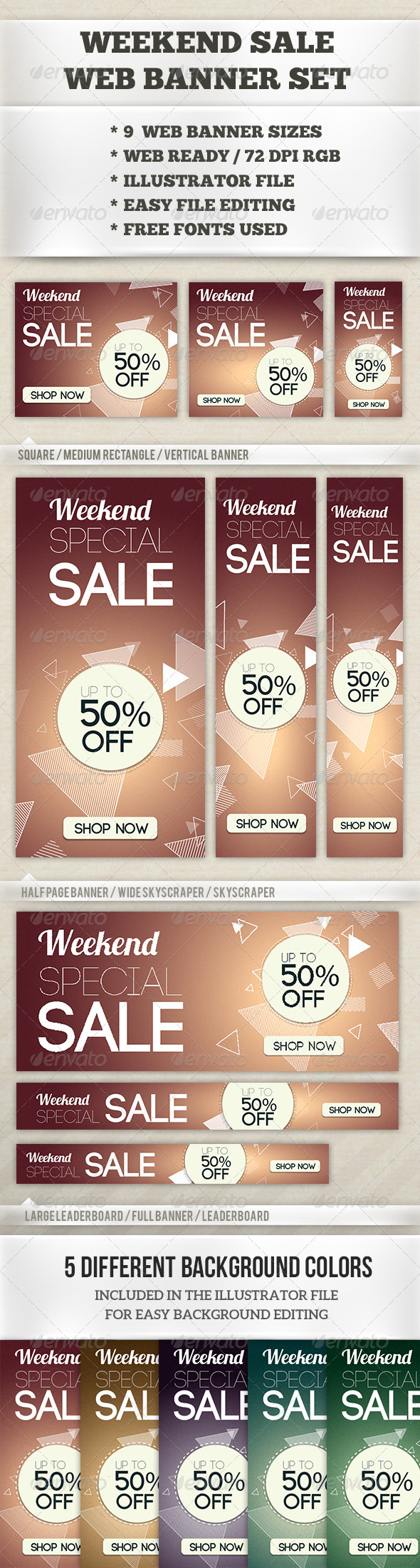 GraphicRiver Weekend Sale Web Banner Set 6835140