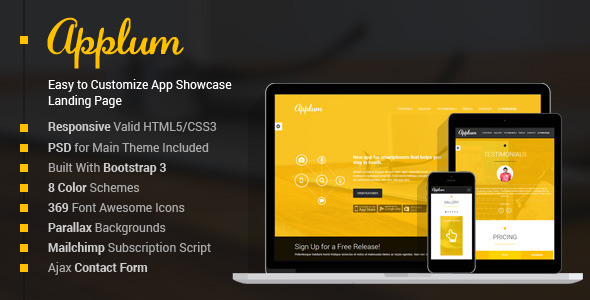 ThemeForest Applum Responsive App Showcase Landing Page 6819871