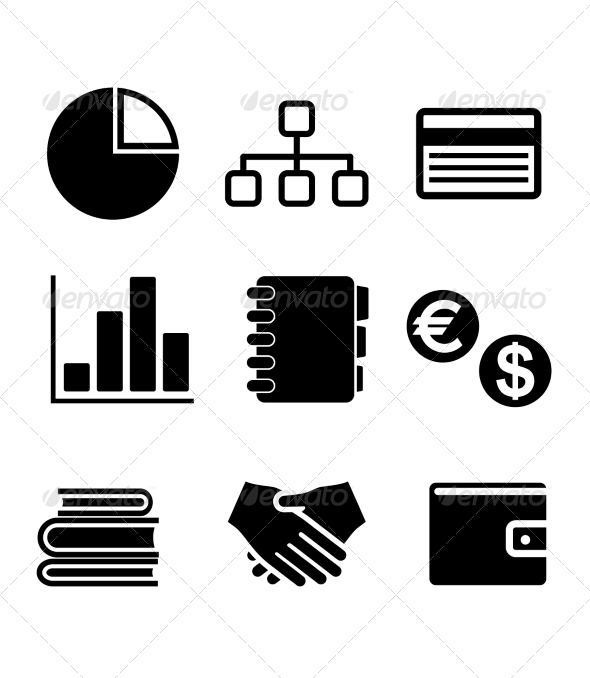 GraphicRiver Business Icons Set 6835394