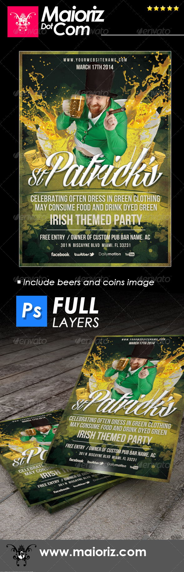 GraphicRiver St Patricks Day Flyer 6835597