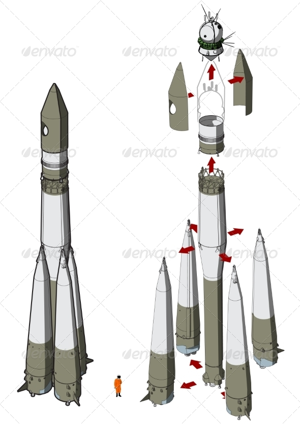 GraphicRiver Space Rocket Infographics 6835596