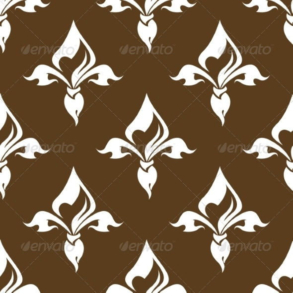 Seamless Floral Brown Pattern