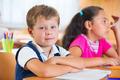 Happy pupils at school
