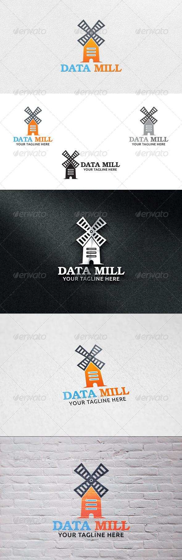 GraphicRiver Data Mill Logo Template 6835869