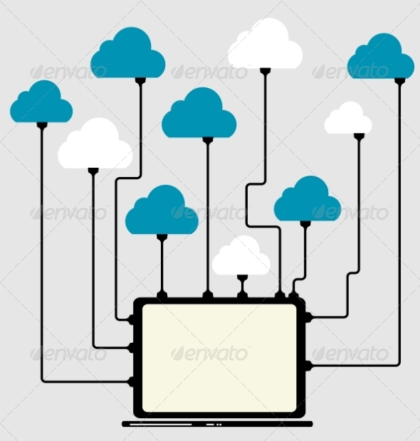 GraphicRiver Cloud Computing Concept on Different Electronic De 6835985
