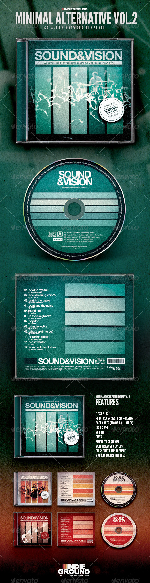 GraphicRiver Minimal Alternative CD Album Artwork Vol 2 6836036