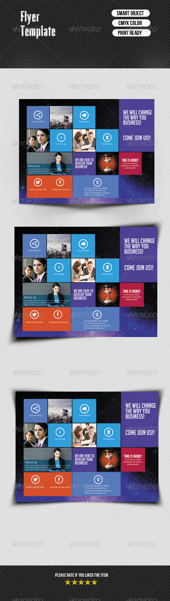 Metro Style Flyer Template - Corporate Flyers