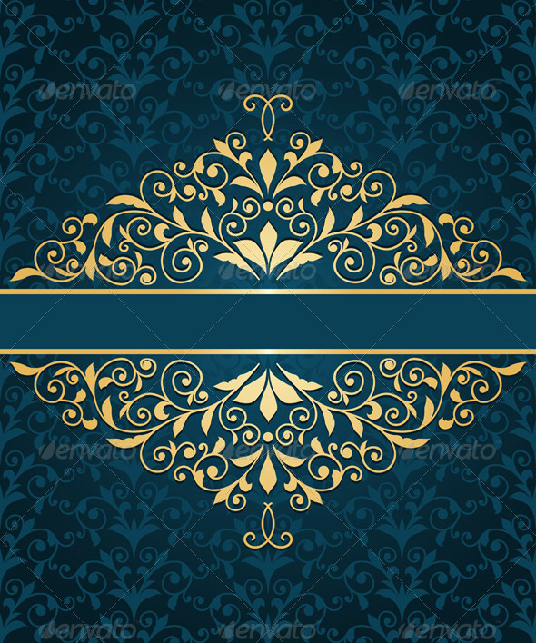 GraphicRiver Gold Frame Greeting Card 6836304