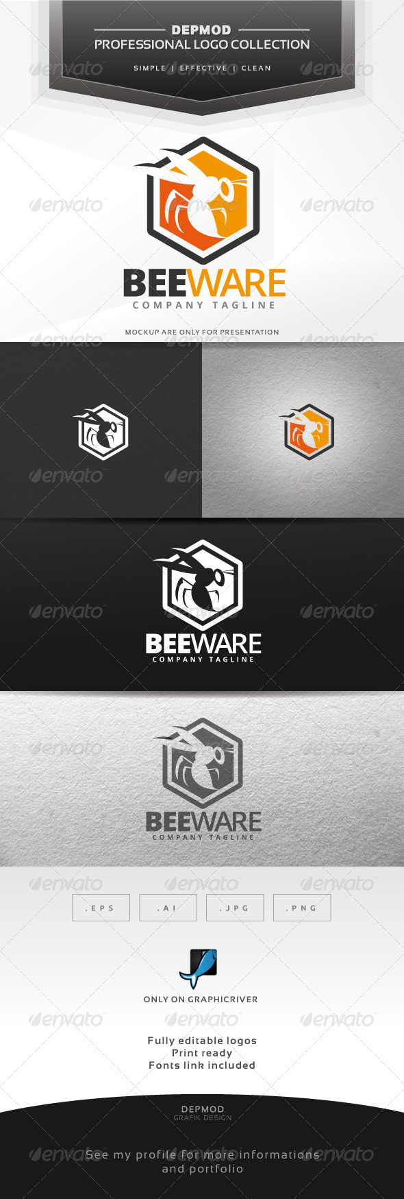 GraphicRiver Beeware Logo 6836755