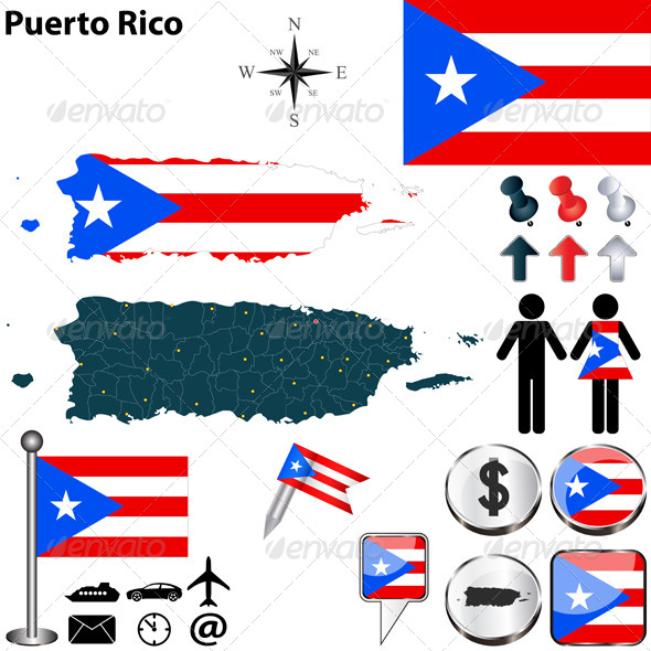 GraphicRiver Map of Puerto Rico 6836885