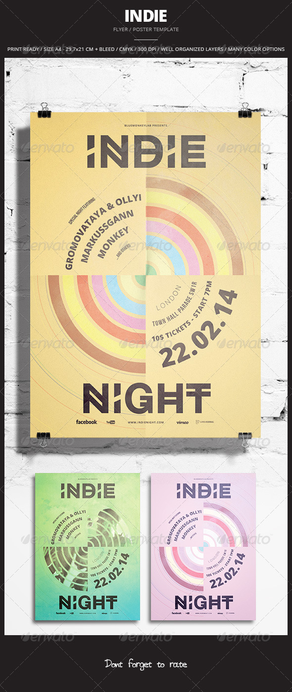 GraphicRiver Indie Flyer Poster 16 6837045