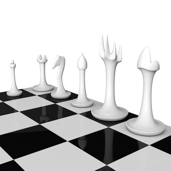 3DOcean Stylish Chess Set 6837049